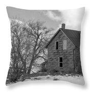 Farmhouse Black And White Throw Pillow