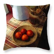 Farmhouse Fruit And Flowers Throw Pillow