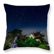 Farmhouse Star Trails.  Throw Pillow