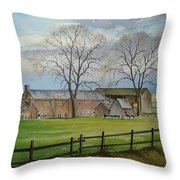Farming In The Staffordshire Countryside Throw Pillow