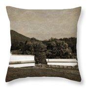 Farming The Shenandoah  Throw Pillow