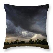 Farmland Storm Throw Pillow