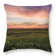 Farmland Sunset 1 Throw Pillow