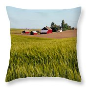 Farmlands Near Davenport Throw Pillow