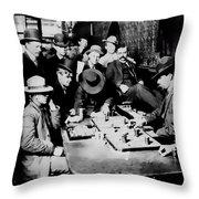 Faro Game Orient Saloon C. 1900 - Arizona Throw Pillow