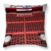 Faro Giant Vintage Mining Truck Throw Pillow