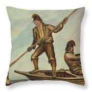 Faroese Islanders Circa 1862 Throw Pillow