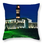 Farol Da Barra - Salvador - Bahia Throw Pillow