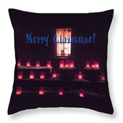 Farolitos Or Luminaria Below Window 1-2 Throw Pillow