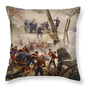 Farragut On The Hartford At Mobile Bay Throw Pillow
