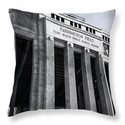 Farrington Field Facade Bw Throw Pillow