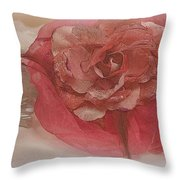 Fascinator Hats In White And Rose Throw Pillow