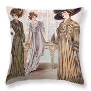 Fashion Advert For Eloy Mignot Throw Pillow