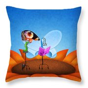 Fashion Butterfly Throw Pillow