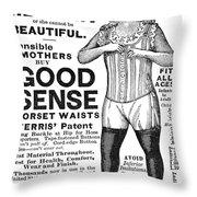 Fashion Corset, 1890 Throw Pillow