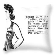 Fashion Corset, 1895 Throw Pillow