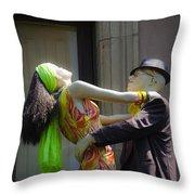 Fashion Dolls Dancing Throw Pillow