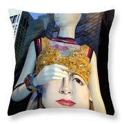 Fashion Face Throw Pillow