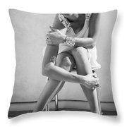 Fashion Instinct Bw Palm Springs Throw Pillow by William Dey