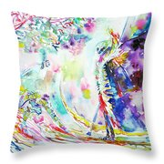 Fashion Lady And Death Under A Tree Throw Pillow