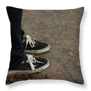 Fashion Meets Nature Throw Pillow