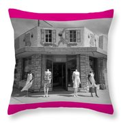 Fashion Models Throw Pillow