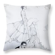Fashion On A Hill Throw Pillow by Sarah Parks