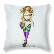 Fashion On The Run Throw Pillow