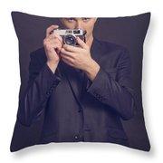 Fashion Photographer Throw Pillow