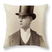 Fashion Top Hat, C1880 Throw Pillow