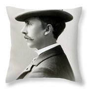 Fashion Trilby Hat, 1896 Throw Pillow