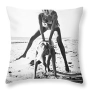 Fashion: Womens Swimsuits Throw Pillow