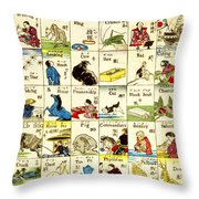 Fashionable Melange Of English Words 1887 Throw Pillow