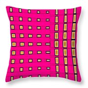 Fashionably Fuschia-s2 Throw Pillow