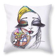 Fashionista Throw Pillow