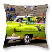 Fast And Furious In Cuba Throw Pillow
