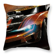 Fast Car Painting Throw Pillow