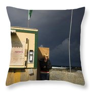 Fast Food - Doolin Ferry Throw Pillow
