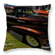 Fastback In Kandy Throw Pillow