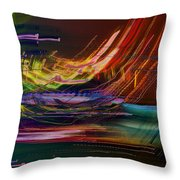 Faster Than The Speed Of Light Throw Pillow