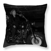 Fat Boy In The Barn Throw Pillow
