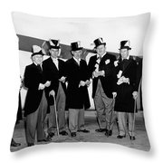 Fat Cats In Tuxedos Throw Pillow