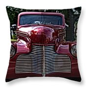 Fat Chevy Throw Pillow