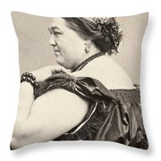 Fat Lady, 19th Century Throw Pillow