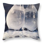 Fat Twin Icicles Over Water Surface Throw Pillow