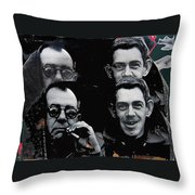 Father And Son Collage Demolition Derby Tucson Arizona 1969-2012  Throw Pillow