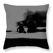 Father And Son Enjoying The Day Throw Pillow