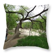 Father And Son Hike Throw Pillow