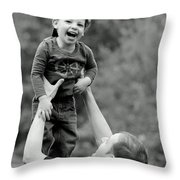 Father And Son IIi Throw Pillow by Lisa Phillips
