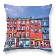 Father And Son - Manhattan Bike Ride Throw Pillow